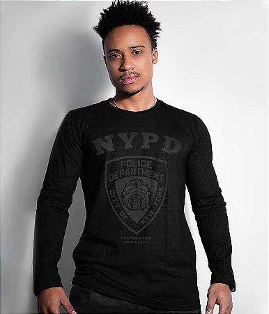 Camiseta Manga Longa Police Department NYPD Dark Line