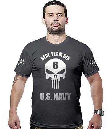 Camiseta Militar Punisher Seal Team Six US Navy Hurricane Line