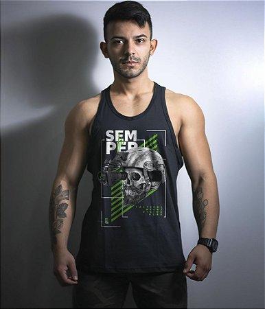 Camiseta Regata Militar GUFZ6 Semper Fi