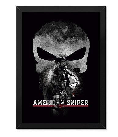 Poster com Moldura American Sniper