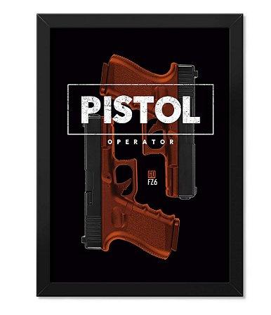 Poster com Moldura Glock Pistol Operator