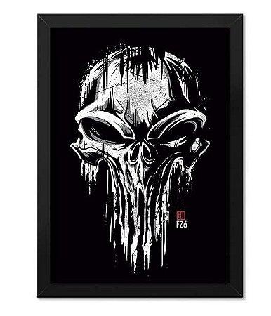 Poster com Moldura The Punisher Skull