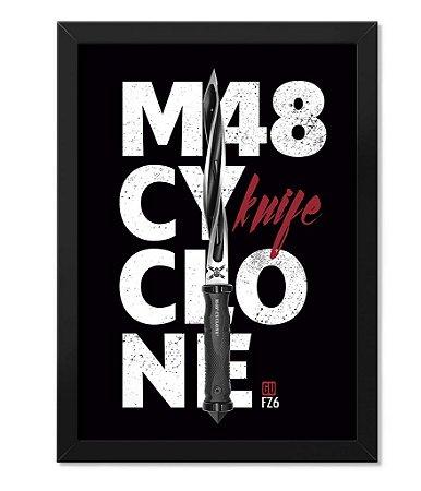 Poster com Moldura M48 Cyclone Knife