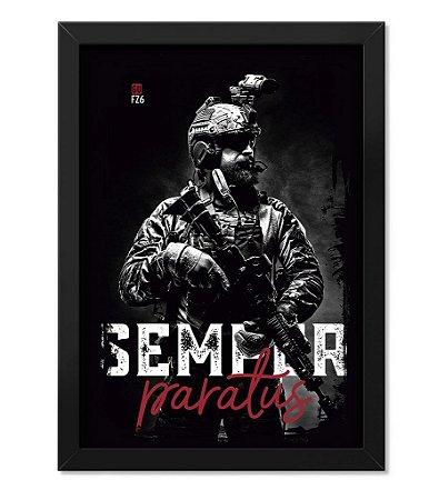 Poster com Moldura GUFZ6 Semper Paratus