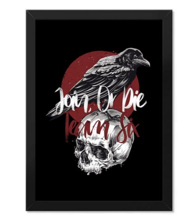 Poster Militar Concept com Moldura Crow Join Or Die