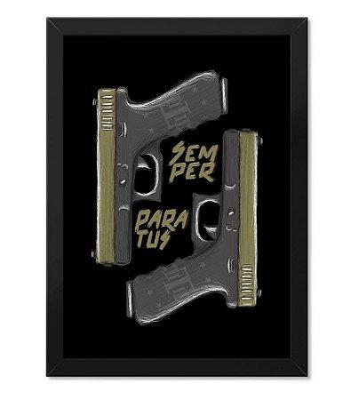 Poster Militar Concept com Moldura Glock Semper Paratus