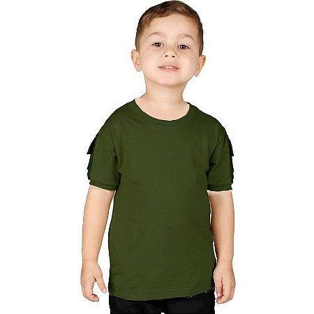 Camiseta Militar T Shirt Ranger Infantil Verde Bélica