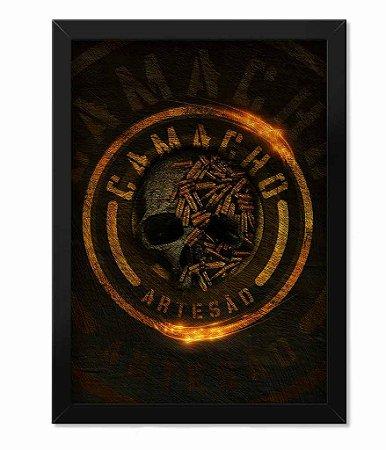 Poster com Moldura Squad T6 Camacho Artesão Skull Ammunition
