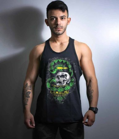 Camiseta Regata Militar Squad T6 Camacho Ponto Cinquenta Team Six Collection