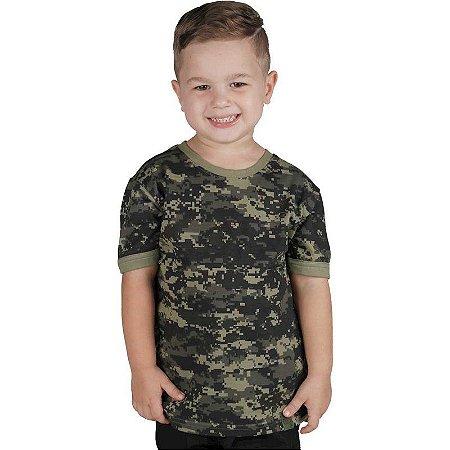 Camiseta Militar Soldier Infantil Digital Pântano Bélica