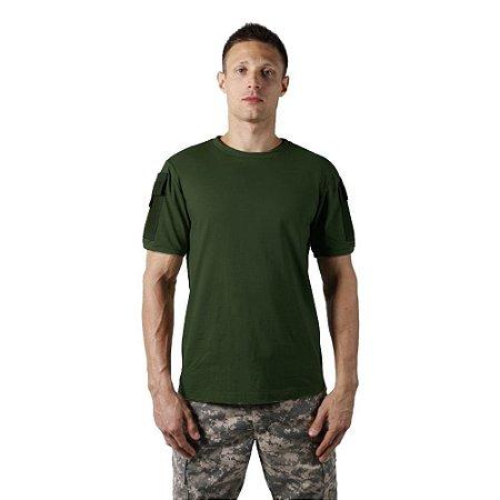 Camiseta T Shirt Tática Ranger Masculina Verde Bélica