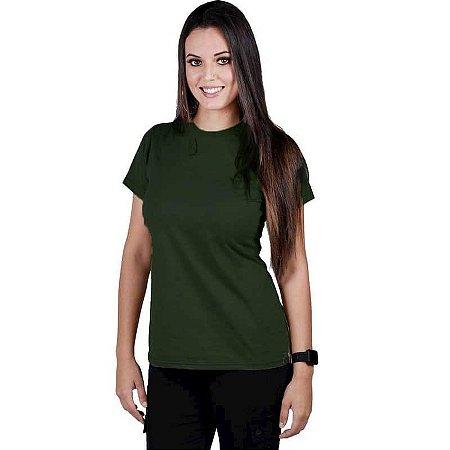Camiseta Feminina Bélica Soldier Verde Manga Curta