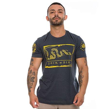 Camiseta Militar Magnata Join Or Die Liberty