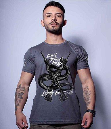 Camiseta Squad T6 Magnata Don't Tread On Me Liberty Or Death