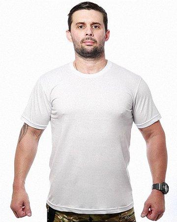Camiseta Básica Lisa Team Six Branca Tático Militar 100% Algodão