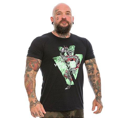 Camiseta Militar Casual Vidi Vici Dragon Si Vis Pacem