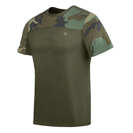 Camiseta Infantry 2.0 Camuflada Woodland Invictus