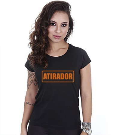 Camiseta Militar Baby Look Feminina CAC Atirador Team Six