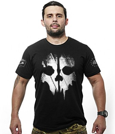 Camiseta Ghosts Estampa Frente e Costas