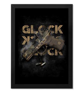 Poster com Moldura Tactical Fritz Glock Multicam