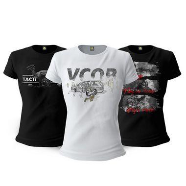 Kit 3 Camisetas Femininas Baby Look Militares Tactical Fritz Temple Index