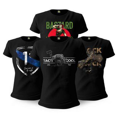Kit 4 Camisetas Femininas Baby Look Militares Tactical Fritz Tacti Cool