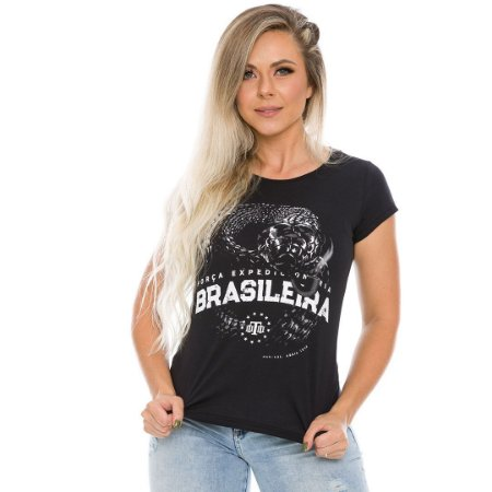 Camiseta Militar Baby Look Expedicionária Brasileira FEB