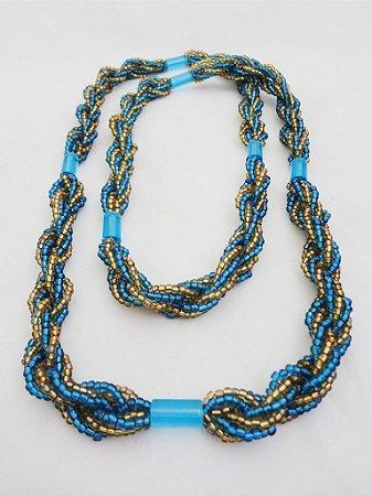Brajá - Azul e Amarelo Logun Edé  7 Fios