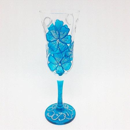 Taça - Flor Azul