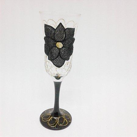Taça - Flor Preta