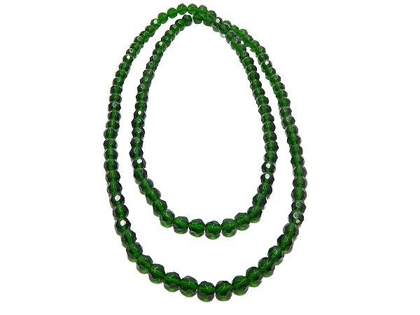 Guia - De Cristal Verde Escuro 8mm