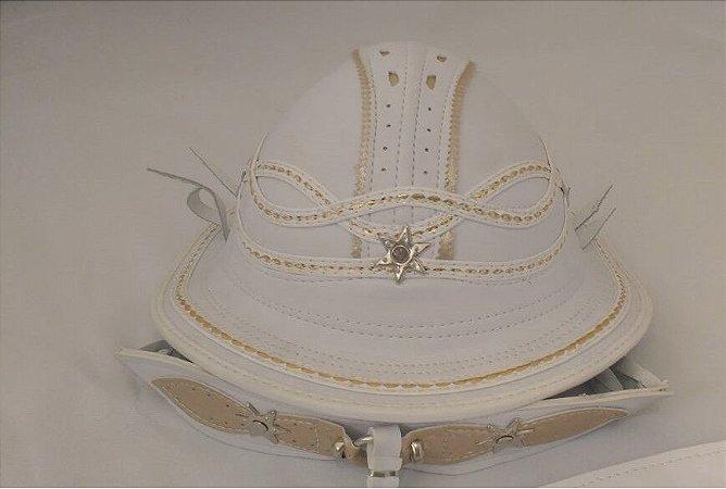 Chapéu de Couro Branco