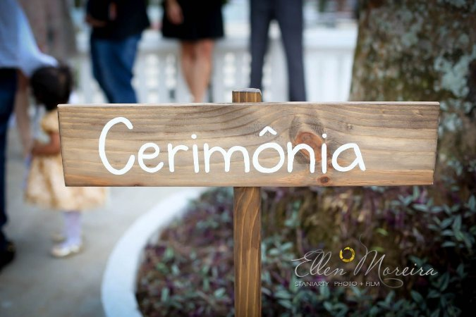 """Placa de chão """"Cerimônia"""""""