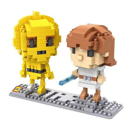 Mini Blocos C3PO e Luke Skywalker - Loz Star Wars