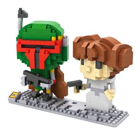 Mini Blocos BOBA FEET / LEIA - Loz Star Wars