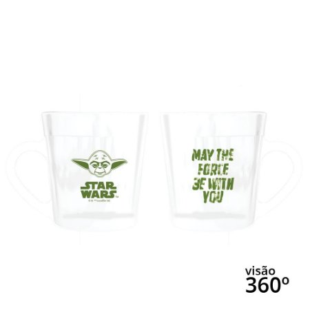 Caneca Star Wars Yoda - Disney - 270 ml