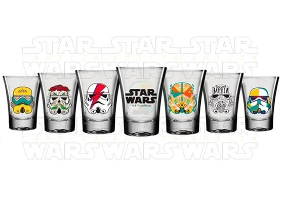 Kit Cachaça  Shot Star Wars - Disney - 6 x 60 ml