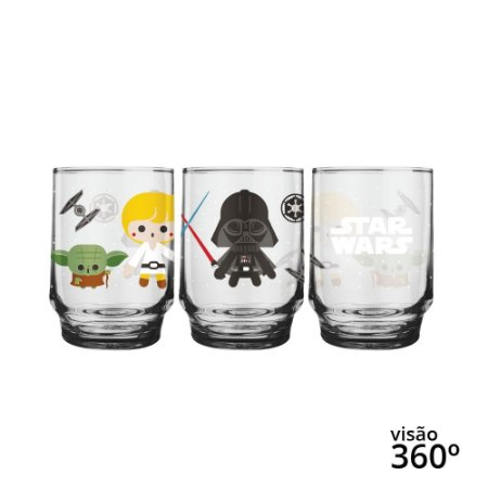 Copo Star Wars Figurinhas - Disney - 260 ml