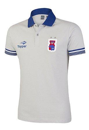 Camisa Polo Cinza/Azul Paraná Clube • Topper
