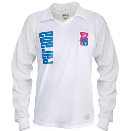 Camisa Retrô Branca Manga Longa • Anos 90 • Paraná Clube