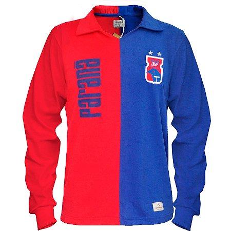 Camisa Retrô Vermelha/Azul Manga Longa • Anos 90 • Paraná Clube