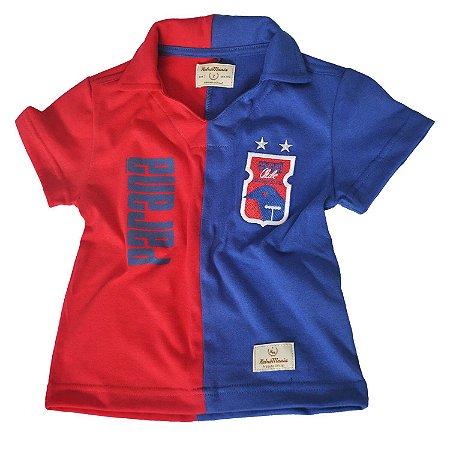 Camisa Retrô INFANTIL Vermelha/Azul • Anos 90 • Paraná Clube