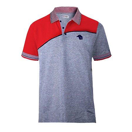 Camisa Polo • Paraná Clube • Cinza/Vermelho