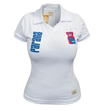 Camisa Retrô FEMININA Branca • Anos 90 • Paraná Clube
