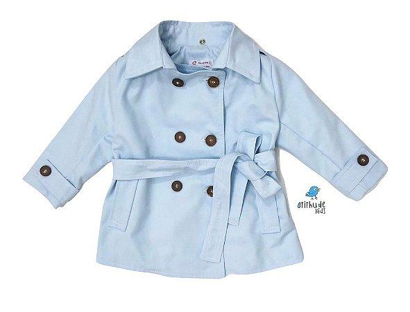 Trench Coat  - Azul Bebê