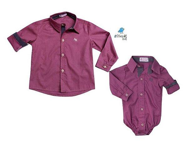 Kit camisa Bento  - Tal pai, tal filho  (duas peças)