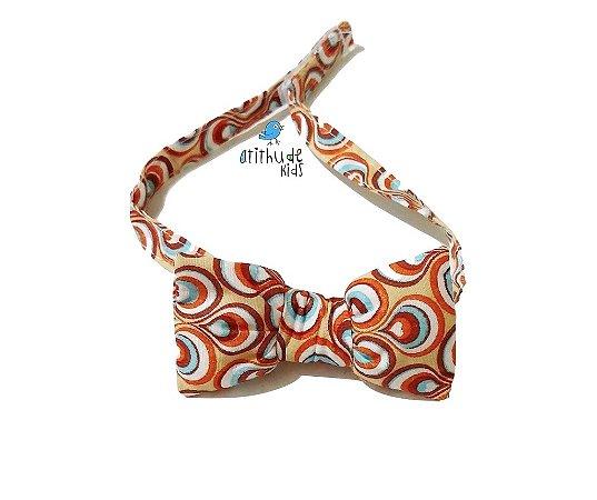 Gravata Borboleta - Laranja Estampada