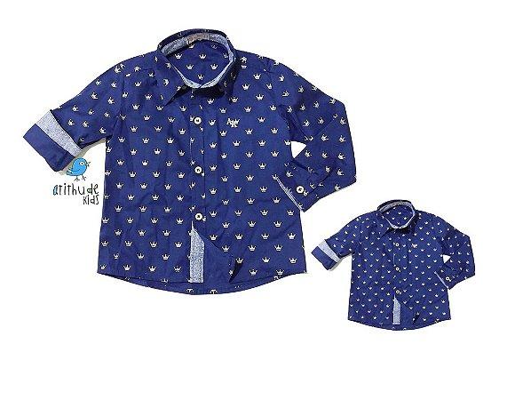 Kit camisa Evair - Tal pai, tal filho (duas peças) | Pequeno Príncipe | Coroa
