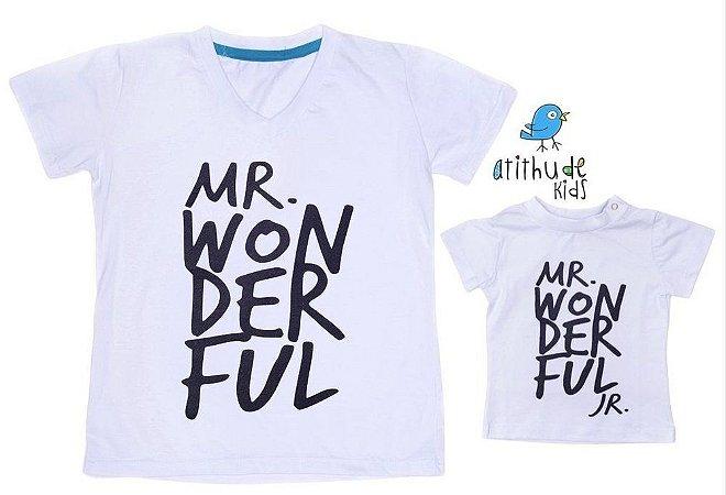 Kit camiseta Wonderful -  Tal pai, tal filho (duas peças)