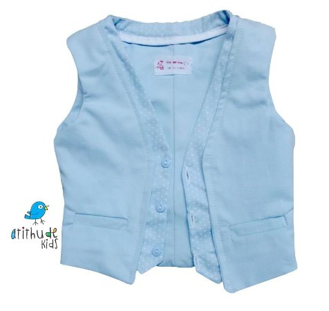 Colete Justin - Azul Bebê